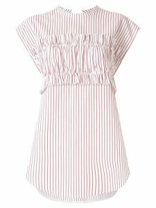 Lee Mathews Sunny Stripe tie back T-shirt - Red