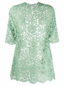Valentino floral lace T-shirt - Green