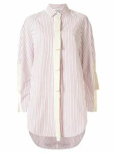 Lee Mathews Sunny Stripe oversized shirt - Red