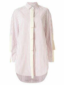 Lee Mathews Sunny Stripe oversized shirt - Red