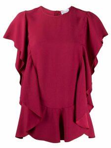 RedValentino ruffled short-sleeved blouse