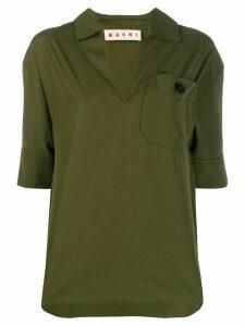 Marni collared T-shirt - Green