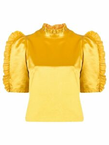 Cynthia Rowley Felicity ruffle top - Yellow