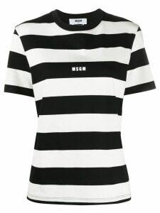 MSGM striped logo T-shirt - Black