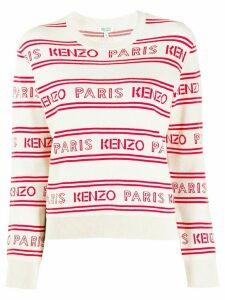 Kenzo Paris logo knit jumper - NEUTRALS