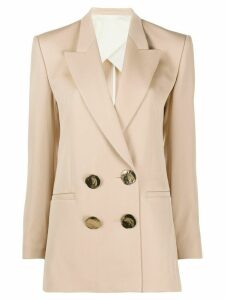 Petar Petrov Jimir double breasted blazer - NEUTRALS