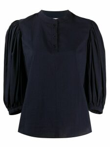 See by Chloé cropped puff sleeve blouse - Blue