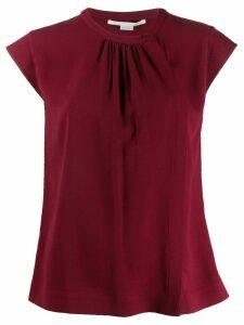 Stella McCartney pleated T-shirt - Red