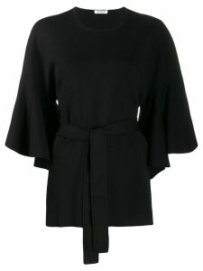 P.A.R.O.S.H. Rok belted tunic top - Black
