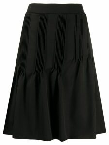 Nina Ricci micro-pleat midi skirt - Black
