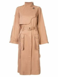 Acler Delton trench coat - Brown