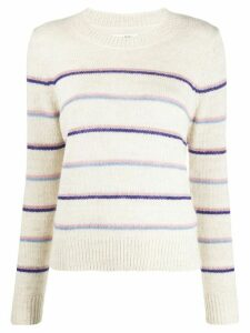 Isabel Marant Étoile striped crew neck jumper - NEUTRALS