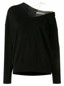 Alexander Wang cold shoulder asymmetric jumper - Black