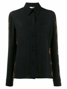 Givenchy snakeskin effect button up shirt - Black