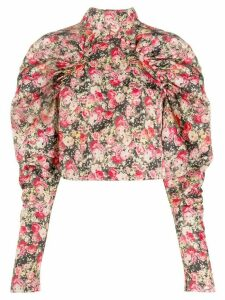 Rotate Kim floral cropped top - PINK