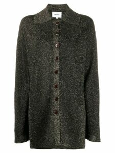 Nanushka lurex knit shirt - Black
