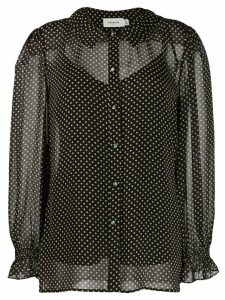 Coach sheer polka dot print blouse - Black