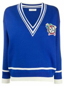 Sandro Paris knitted cricket jumper - Blue