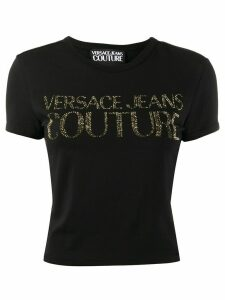 Versace Jeans Couture embellished logo T-shirt - Black