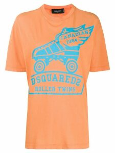 Dsquared2 rollerskate print T-shirt - ORANGE