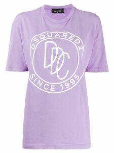 Dsquared2 logo print cotton T-shirt - PURPLE