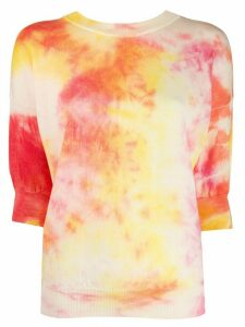 MSGM tie-dye knitted top - PINK
