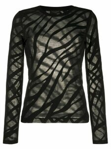 Rag & Bone Valencia zebra-devoré top - Black