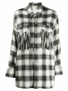 R13 oversized plaid-print shirt - Black