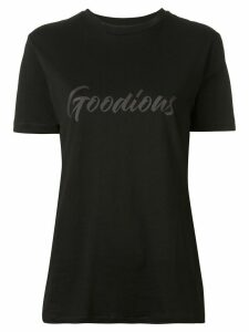 GOODIOUS logo print crew neck T-shirt - Black