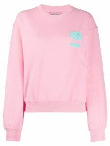Chiara Ferragni logo patch sweatshirt - PINK