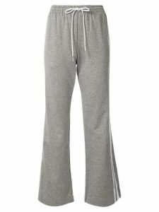 GOODIOUS flared side stripe track trousers - Grey