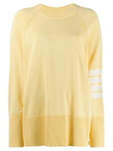 Thom Browne 4-Bar motif raglan jumper - Yellow