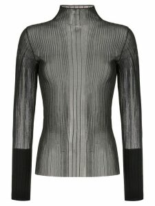 Dion Lee sheer pleated top - Black
