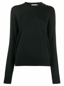Givenchy buttoned shoulder jumper - Black