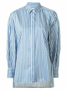Enföld fitted cuff striped pattern shirt - Blue