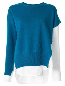 Enföld knitted shirt top - Blue