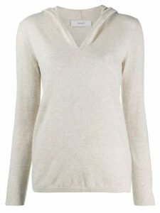 Pringle of Scotland knitted hooded jumper - NEUTRALS