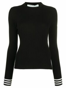 Off-White ribbed long-sleeved top - Black