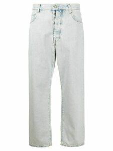 UNRAVEL PROJECT high rise baggy boyfriend jeans - Blue