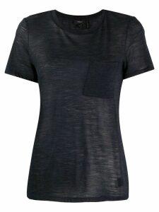 Theory patch pocket short sleeve T-shirt - Blue
