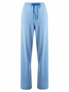 Chinti and Parker wide-leg knitted track pants - Blue