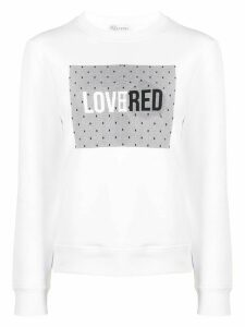 RedValentino LoveRed print sweatshirt - White