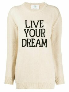Alberta Ferretti Live Your Dream jumper - NEUTRALS