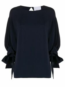 Erika Cavallini three-quarter sleeve shift top - Blue