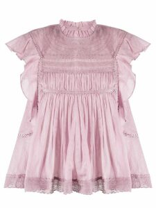 Isabel Marant Étoile Vivia lace-trimmed sleeveless blouse - PINK