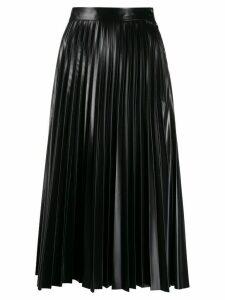 Mm6 Maison Margiela pleated midi skirt - Black