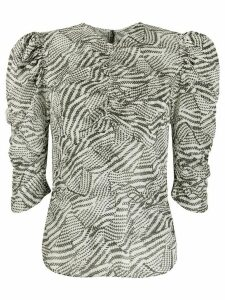 Isabel Marant abstract print blouse - White