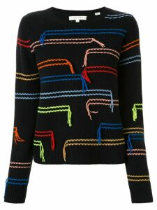 Chinti and Parker Horizontals tassled jumper - Multicolour