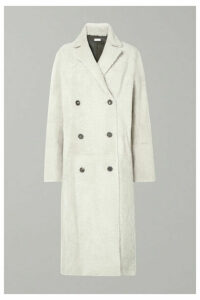 UTZON - Reversible Double-breasted Shearling Coat - Off-white