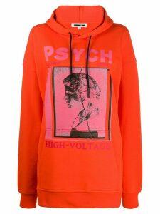 McQ Alexander McQueen oversized 'psych' hoodie - ORANGE
